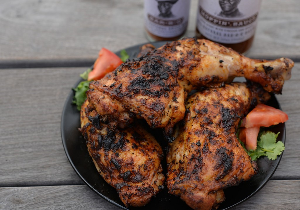 Enkel vardagsgrillad BBQ-Kyckling