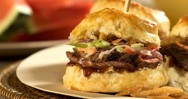 BBQ Beef Biscuit Sliders